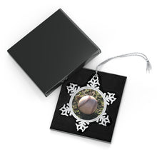 Load image into Gallery viewer, Baseball on Grass - Timeless - Pewter Snowflake Ornament