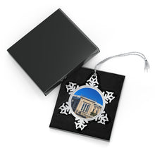 Load image into Gallery viewer, Yankee Stadium - Timeless - Pewter Snowflake Ornament
