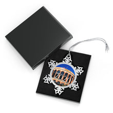 Load image into Gallery viewer, Citi Field - 2020 - Pewter Snowflake Ornament