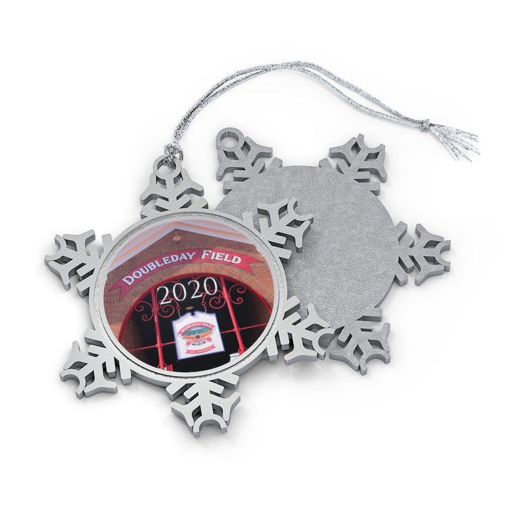 Doubleday Field - 2020 - Pewter Snowflake Ornament