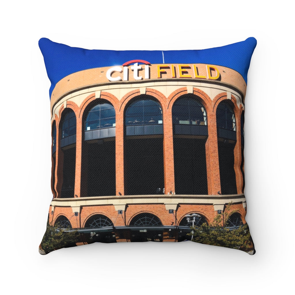 Citi Field with Seaver Quote - Spun Polyester Square Pillow