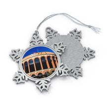 Load image into Gallery viewer, Citi Field - Timeless - Pewter Snowflake Ornament
