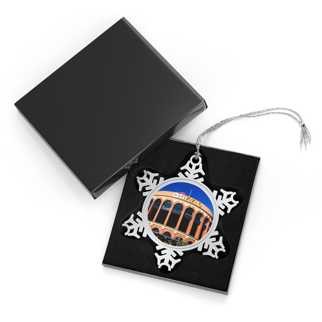 Citi Field - Timeless - Pewter Snowflake Ornament