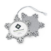 Load image into Gallery viewer, Pewter Snowflake Ornament