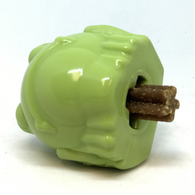Bull Frog Rubber Chew Toy & Treat Dispenser - Junky Pets