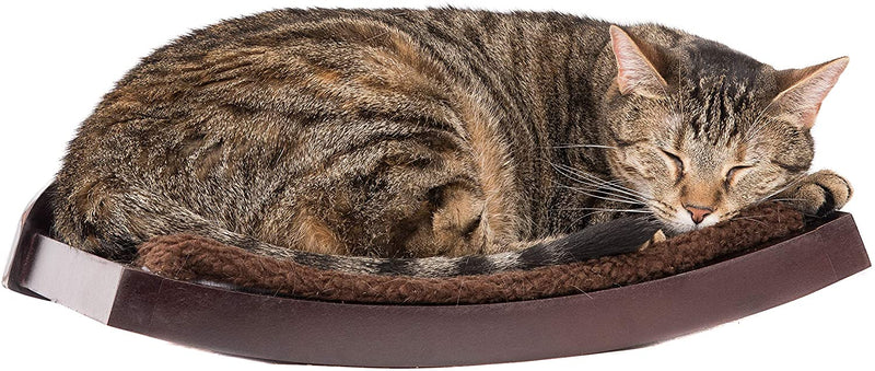 Curved Wood Cat Shelf-Wall Mounted - Junky Pets