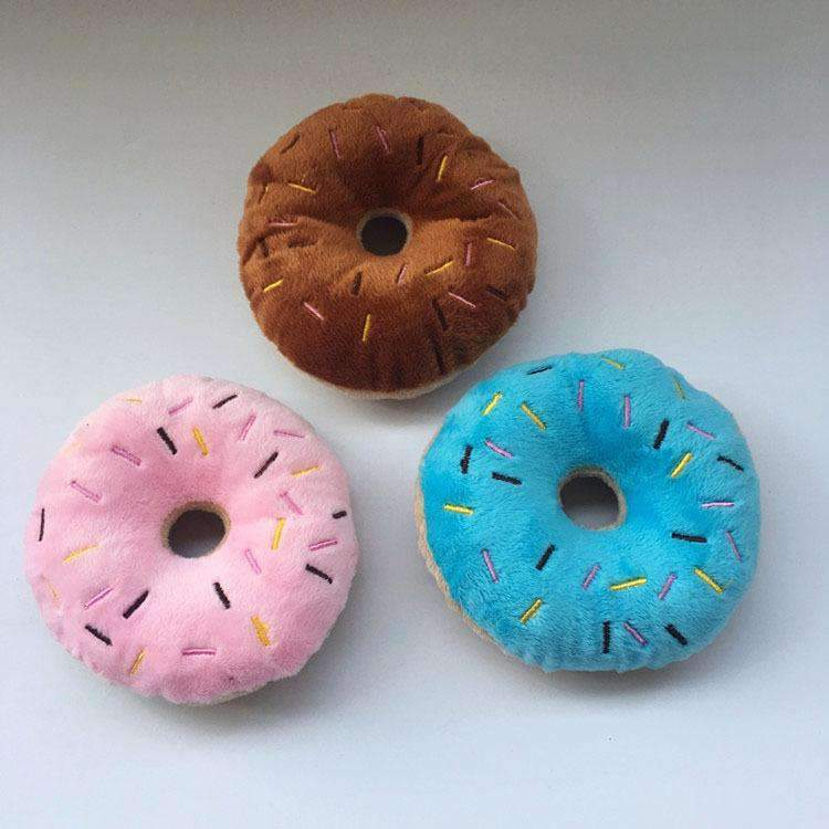 Donut Squeaking Chew Toy - Junky Pets