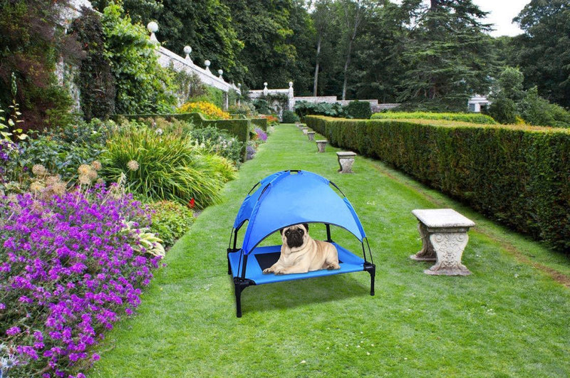 Foldable Elevated Dog Bed with Roof - Junky Pets