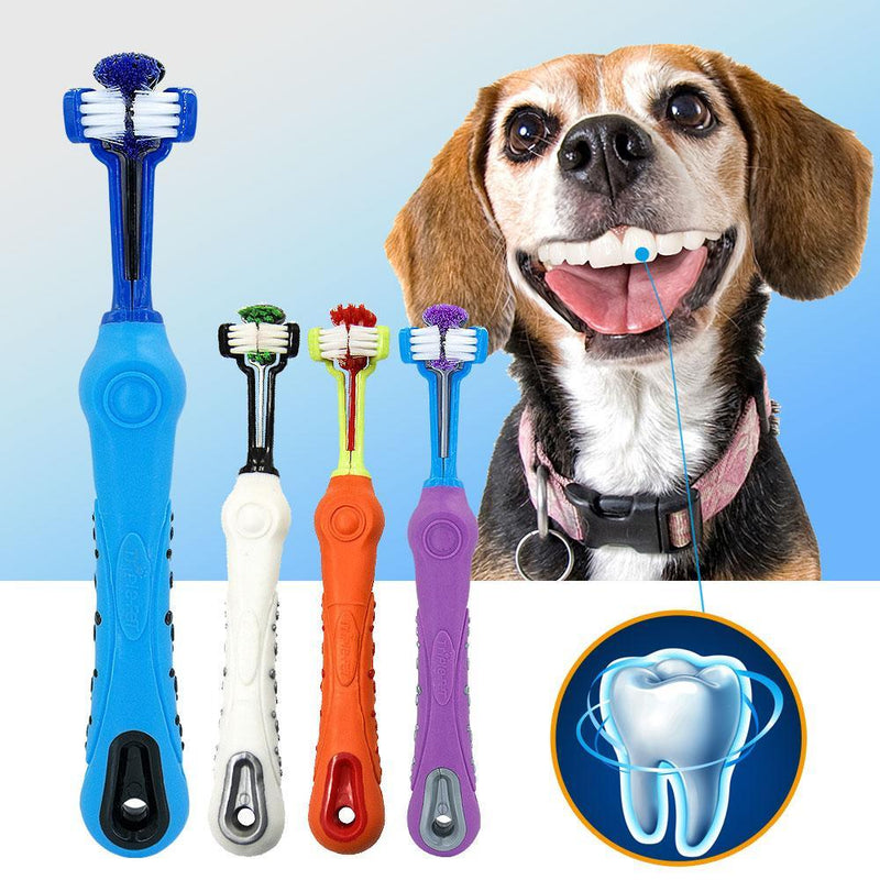 Pet Toothbrush With Three Sides - Junky Pets