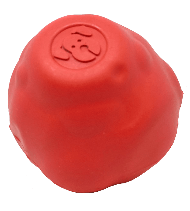 SN Asteroid Ultra Durable Rubber Chew Toy for Dogs - Large - Red - Junky Pets