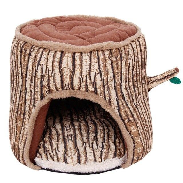 Tree Stump Pet Bed - Junky Pets