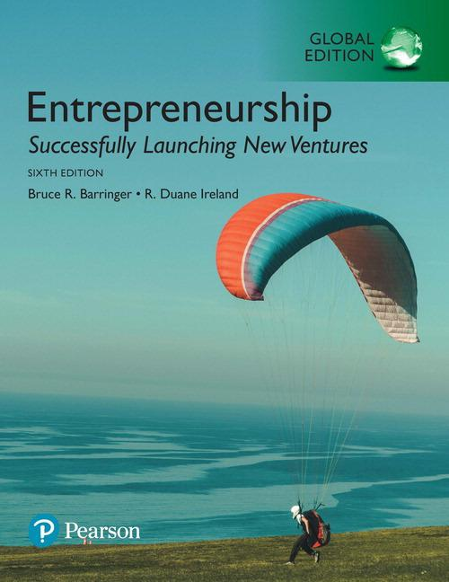 Pearson Horizon - Entrepreneurship: Successfully Launching New Ventures Global Edition 6e