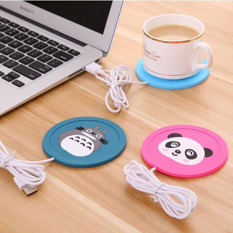 USB Warmer Gadget Cartoon Silicone Thin Cup-Pad