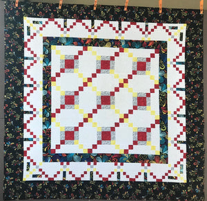 Custom Made SunBurst Quilt with free motion applied. One of a Kind!
