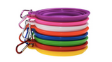 Collapsable Pet Bowl, Eco Friendly, Food Grade with Carabiner