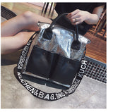 Women Bag Large Capacity Ladies Tote Bags 2020 New Luxury Designer Gold Evening Shoulder Bag Party Shiny Leather Handbag Silver