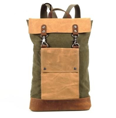 Leather Canvas Military Tactical Backpack