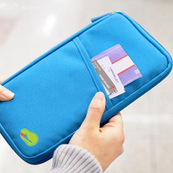 Travel Passport Holder and Wallet Combination.