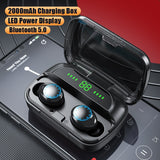 Blue Tooth Sports Earphones/Earbuds with Noise Cancellation and LED Charging Box