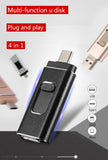 USB Flash Drive photo stick for iphone android phone TYPE C Micro SD 128GB 64GB 32G 256GB TF card usb memory stick 3.0 pendrive