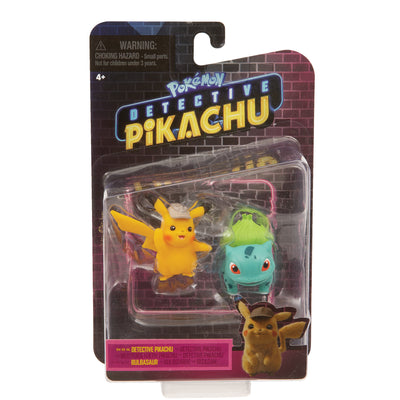 POKEMON  DETECTIVE PIKACHU & BULBASAUR MINI 5cm