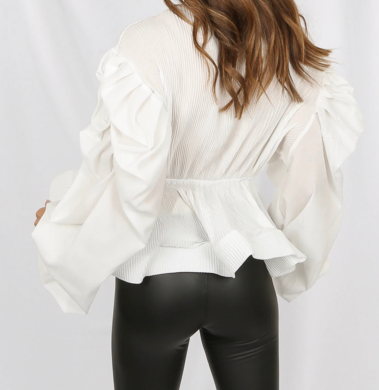 Walked Outta Heaven | Pleated Shoulder Blouse