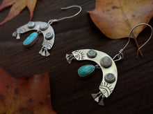 Load image into Gallery viewer, Rain Bursts: Aquamarine, Moonstone and Turquoise