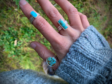 Load image into Gallery viewer, Kingman Turquoise Stacker Ring: Size 4.75-5