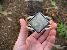 Load image into Gallery viewer, Fossilized Coral Shield Cuff