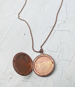 Copper Vintage Locket Necklace