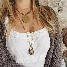 Load image into Gallery viewer, Vintage Locket & Antique Gold Ball Chain Necklace