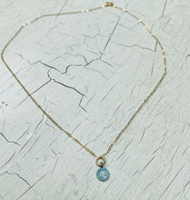 Load image into Gallery viewer, Minimalist Gold Filled Patina Pendant Necklace