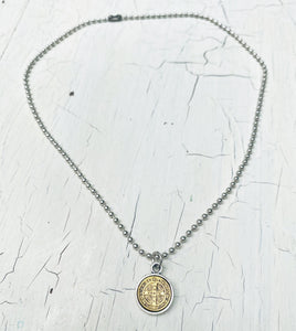 Ball Chain Coin Necklace