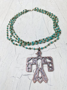 Multi-Layered Thunderbird Necklace
