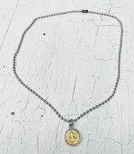 Load image into Gallery viewer, Ball Chain Coin Necklace