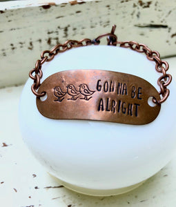 Customizable Copper Chain Bracelet