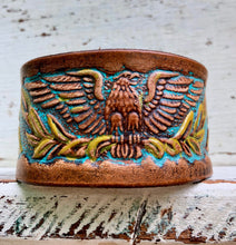 Load image into Gallery viewer, Hand painted boho eagle cuff