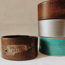 Load image into Gallery viewer, Christian Bracelet- Leather Cuff- Immeasurably More
