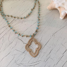 Load image into Gallery viewer, blue layering necklace