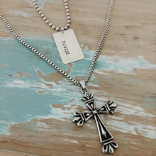 Load image into Gallery viewer, Ball Chain Cross Necklace