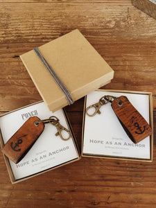 Leather Anchor Keyring