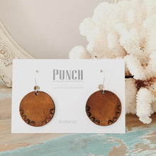 Load image into Gallery viewer, Hand Tooled Leather Earrings