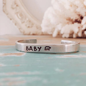 Mama Bear & Baby Bear Set of 2 Silver bracelet