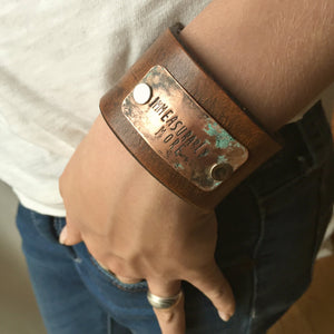Christian Bracelet- Leather Cuff- Immeasurably More