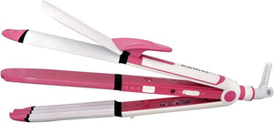 Kemei 3 in 1 Electric Hair Straightener, Curler and Crimper