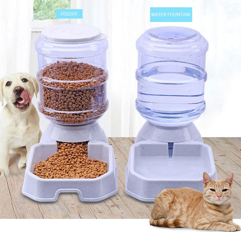 Dog & Cat Automatic Feeding Food & Water Bowl