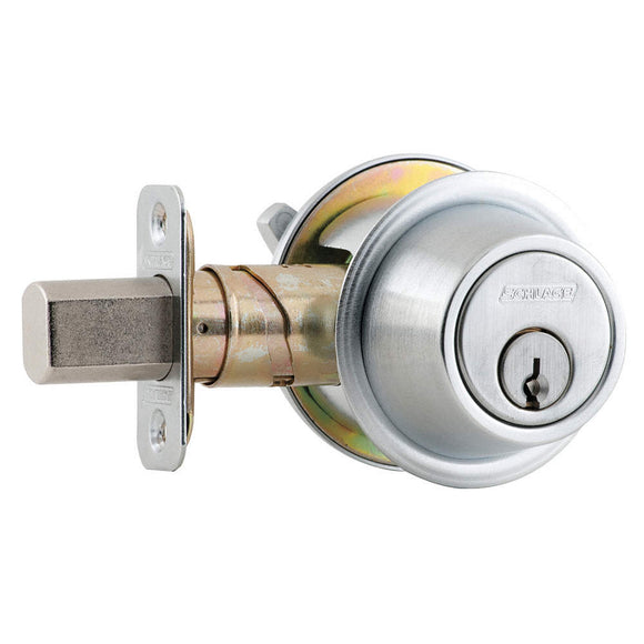 Schlage B560 Heavy Duty Single Cylinder Deadbolt - Enhanced Security Keying