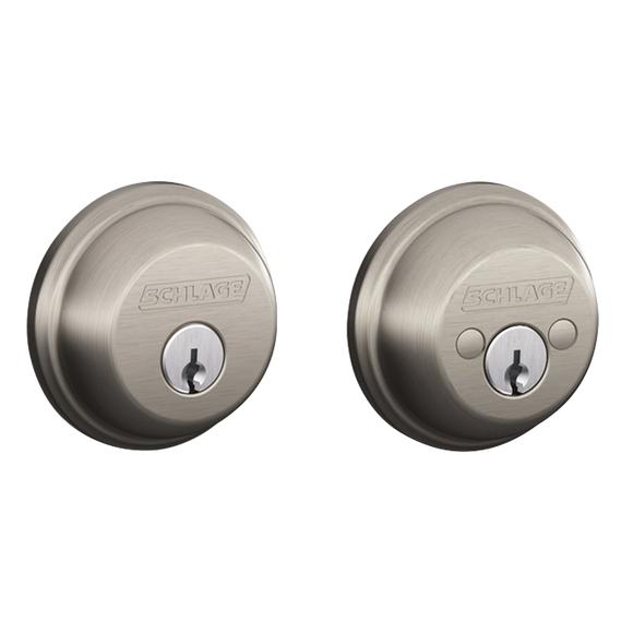 Schlage B62 Residential Double Cylinder Deadbolt - Enhanced Security Keying