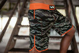 GRAPPLE TECH 2.0 PERFORMANCE SHORT / TIGER CAMO W/ ORANGE TRIM