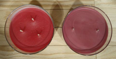 top view of the 2 candles before burning